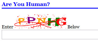 Example of CAPTCHA