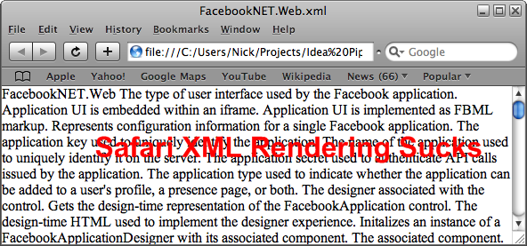Safari XML Rendering Sucks