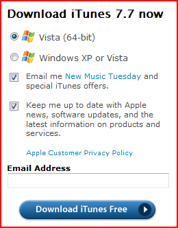 apple itunes for windows vista 64 bit