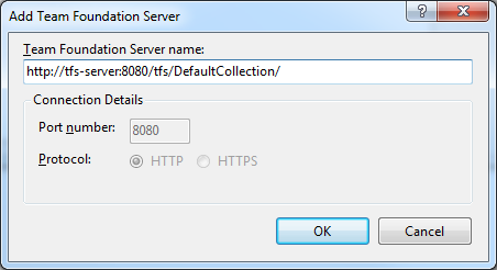 Connecting Visual Studio 2008 to Team Foundation Server 2010